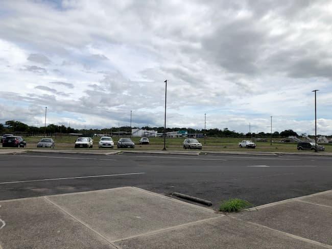 Liberia Airport parking area